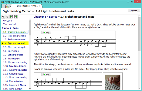 Sight Reading Method screenshot