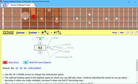 Virtuoso Fretboard Trainer screenshot